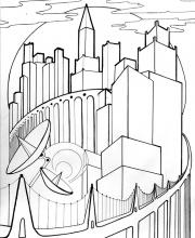 Графическое задание Мегаполис - 9