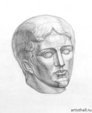Рисунок головы Дорифора