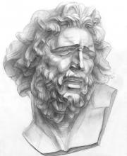 Рисование головы Лаокоона