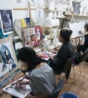Занятия живописью в нашей мастерской