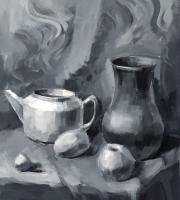 Примеры живописи гризайль