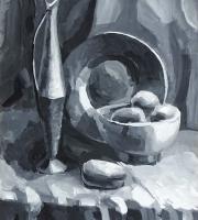Живописи гризайль на наших занятиях живописью фото-4