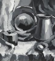 Живописи гризайль на наших занятиях живописью фото-5