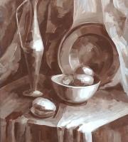 Живописи гризайль на наших занятиях живописью фото-6