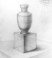 Рисование геометрических предметов. Пример постановки