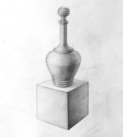 Рисование геометрических предметов. Графин и куб