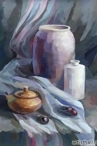 Натюрморт на сближенные цвета, фото-1