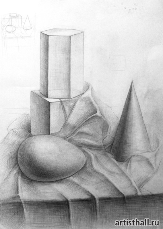 Многопредметные постановки из геометрических объемных тел