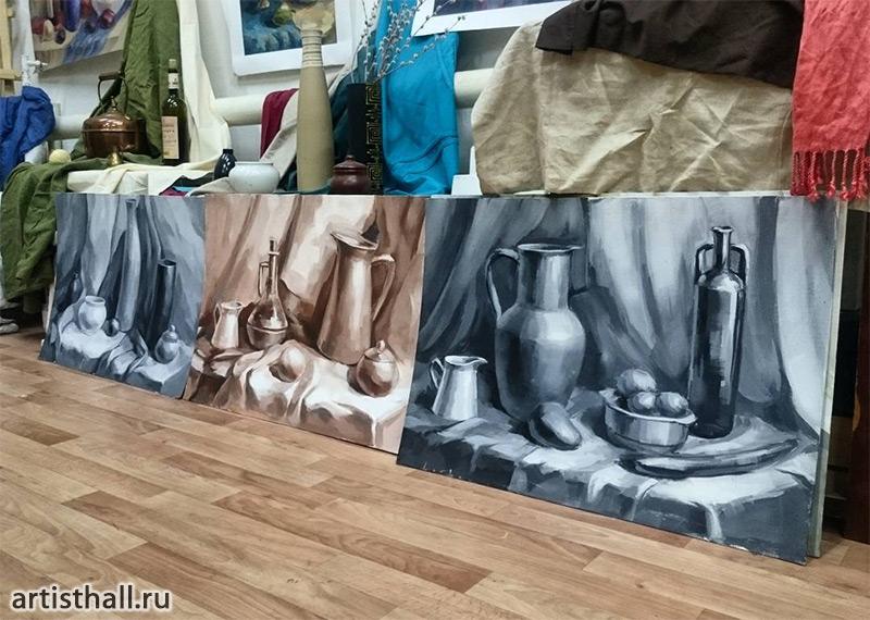 Живопись гризайль в нашей мастерской