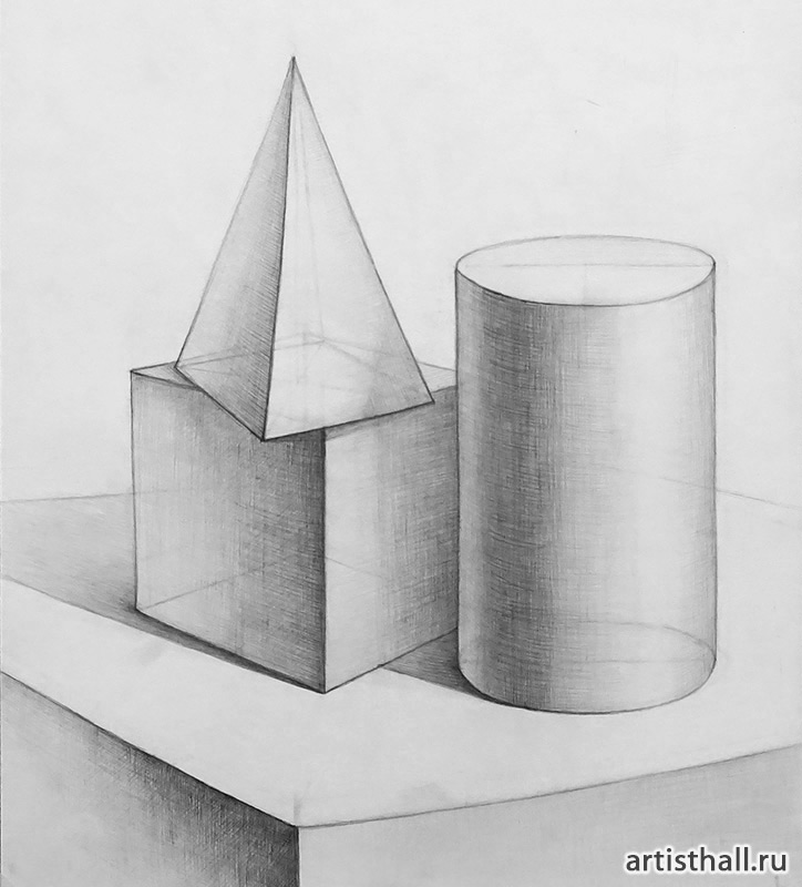Геометрические фигуры в натюрморте