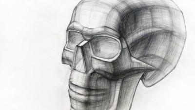 Рисование черепа