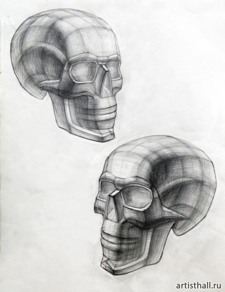 Рисование черепа на наших занятиях