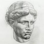 Рисунок греческой головы