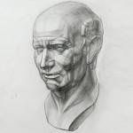Рисование римской головы