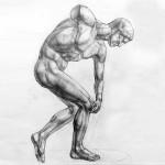 Рисование гипсовой фигуры