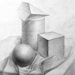 Натюрморты из геометрических фигур