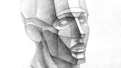 Рисование обрубовки головы