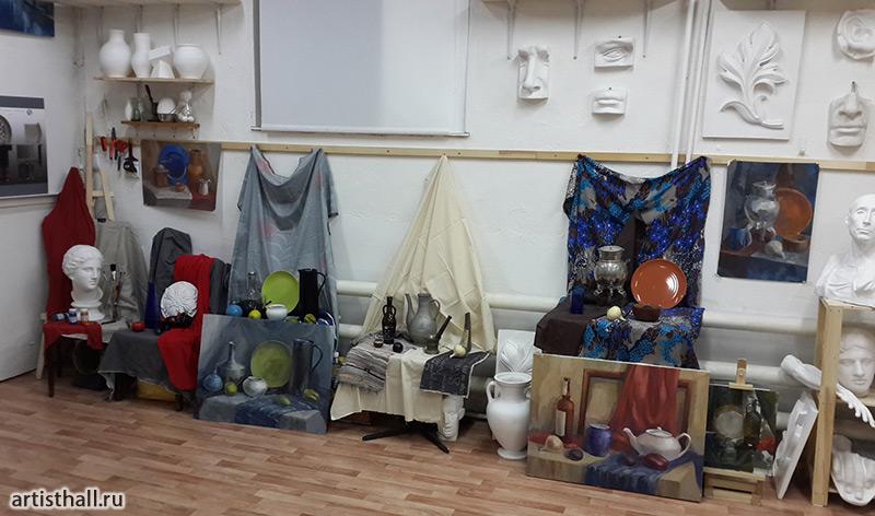 Натюрморты в нашей художественной мастерской