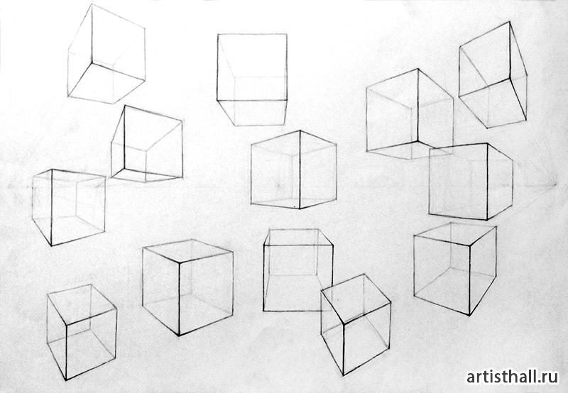 Кубические композиции по рисунку
