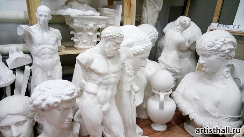 Гипсовые модели античных скульптур