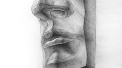 Рисование носа, губ