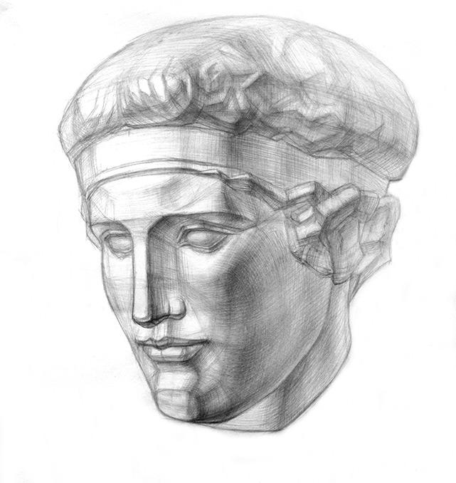 Рисование греческих голов