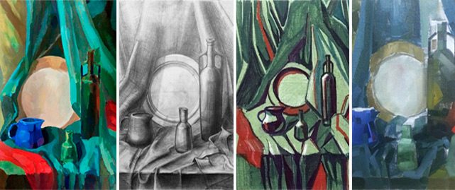 Натюрморт в разных материалах