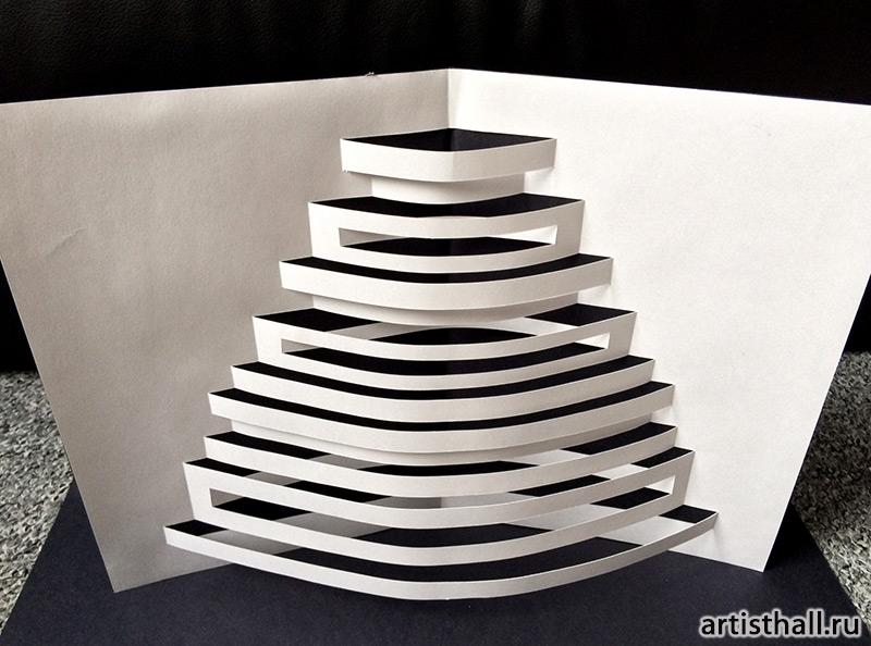 Архитектурные задания по бумажной пластике