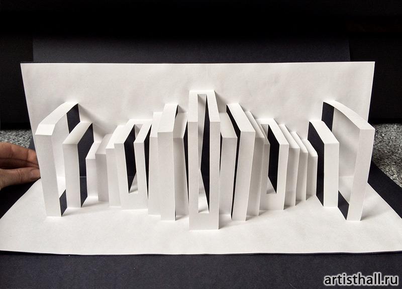 Архитектурные углы в бумажной пластике