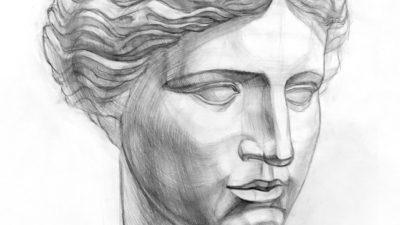 Рисование женских греческих голов