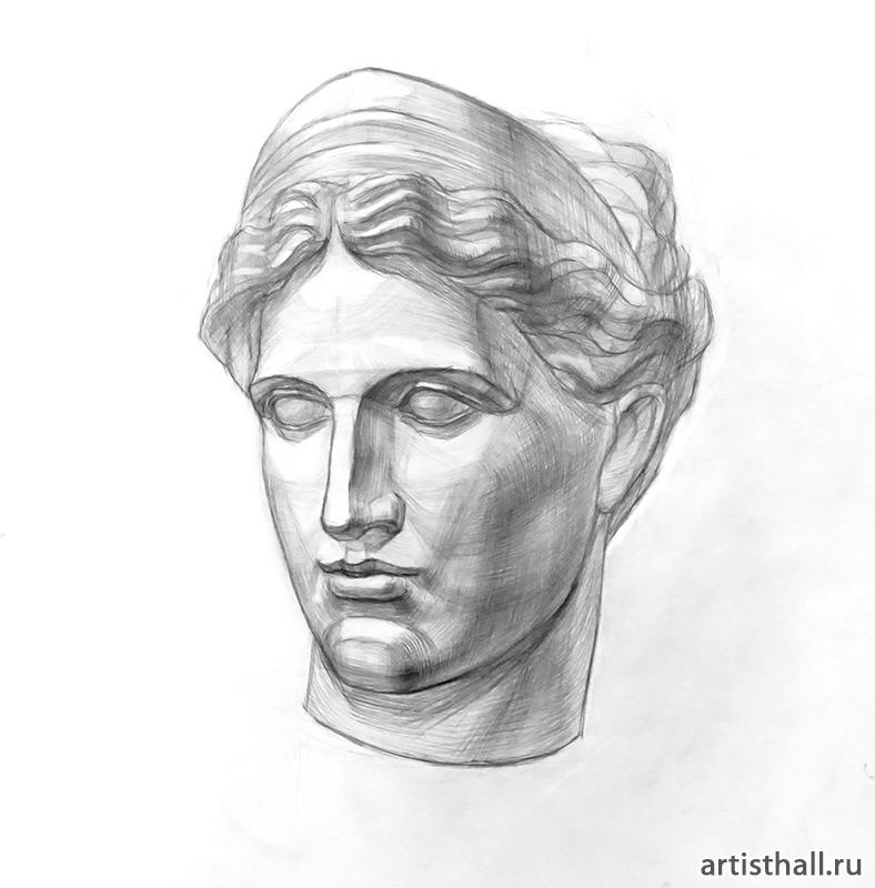 Рисование головы Артемиды
