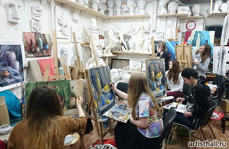 Обучение живописи на учебных натюрмортах