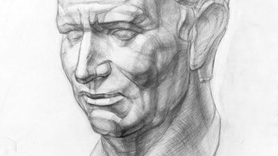 Рисунок головы Старого Римлянина