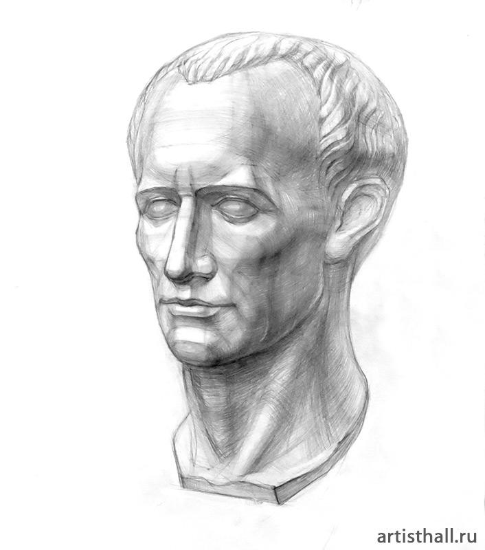 Рисунок головы Цезаря