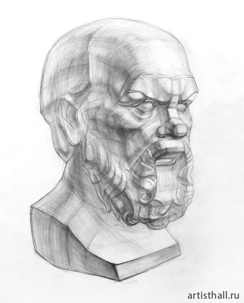 Рисунок головы Сократа