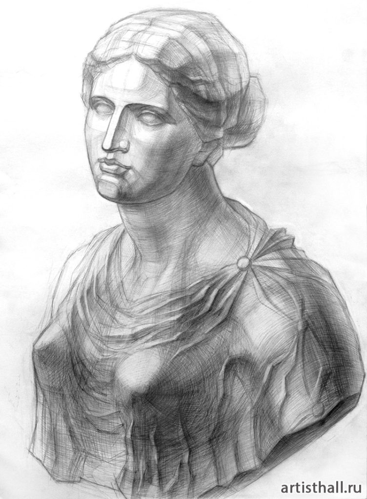 Рисование головы с плечевым поясом