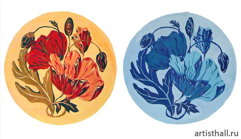 Стилизация растительных форм в цвете