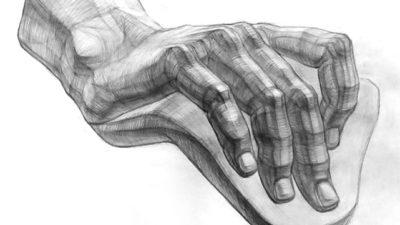 Рисование кисти руки