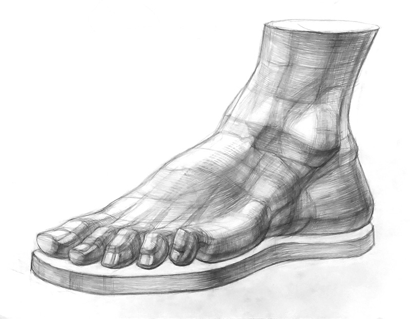 Рисунок ноги