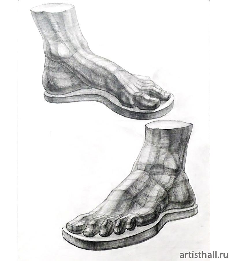 Рисунок ноги Давида